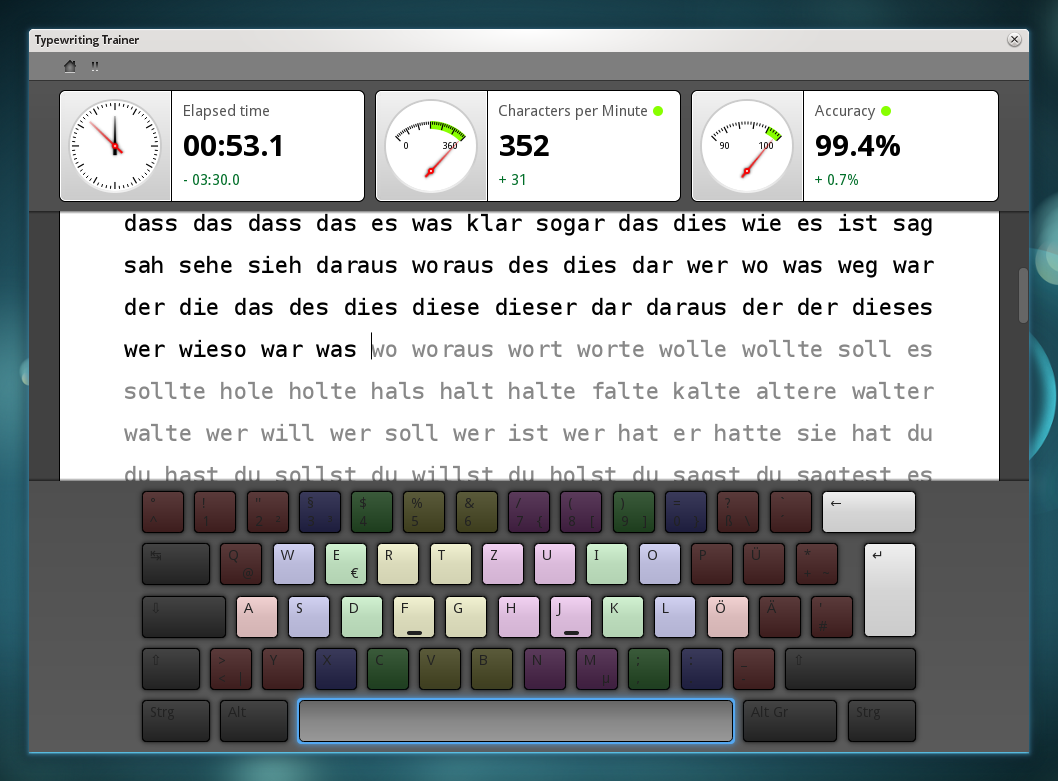 and practice touch typing.