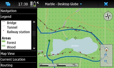 Marble Routing on Maemo 5
